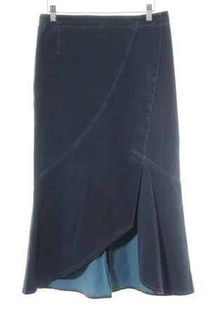 Jupe à godet bleu pétrole style rétro