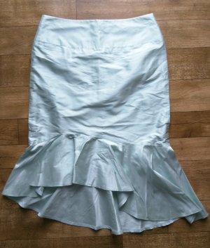 Spódnica z godetami szaro-zielony