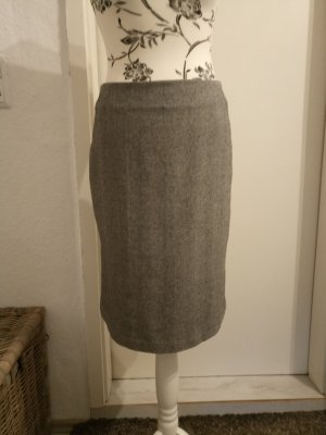 esprit collection Godet Skirt grey-silver-colored mixture fibre