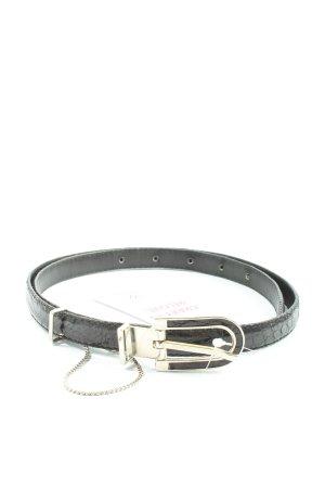 Göppel Cinturón de cuero de imitación negro elegante