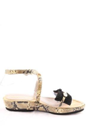 Goer Comfortabele sandalen zwart-bruin volledige print elegant