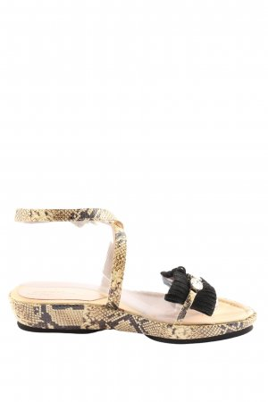 Goer Komfort-Sandalen schwarz-braun Allover-Druck Elegant