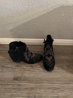 Görtz 17 Stiefeletten Nieten Boots echt Leder Gr. 37 Chloé Style