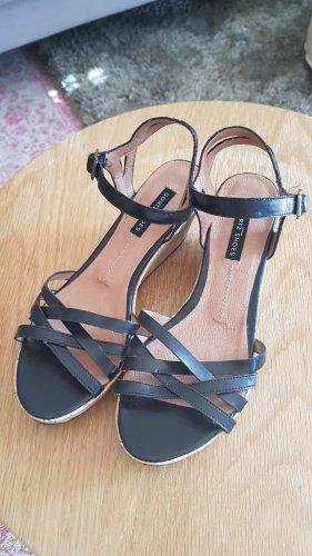 Görtz Shoes Sandalias de tacón de tiras negro-marrón claro