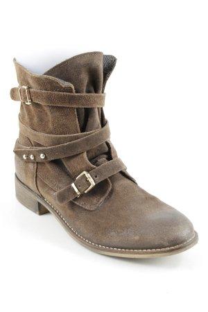 Görtz Shoes Reißverschluss-Stiefeletten braun Casual-Look