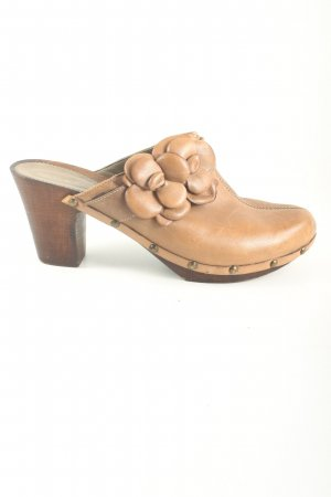 Görtz Shoes Clog Sandals brown casual look
