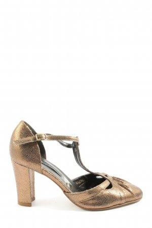 Görtz Shoes T-Steg-Pumps goldfarben Elegant