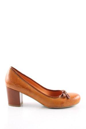 Görtz Shoes Escarpins Mary Jane orange clair style d'affaires