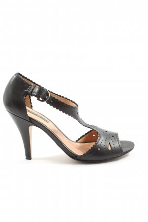 Görtz Shoes Peeptoe Pumps schwarz Business-Look