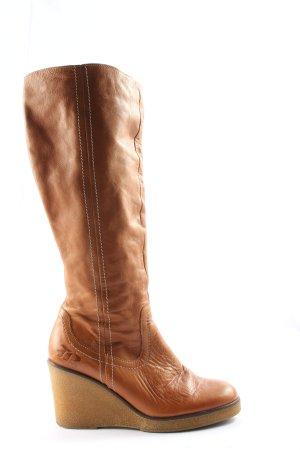Görtz Shoes Obcasy na platformie brązowy W stylu casual