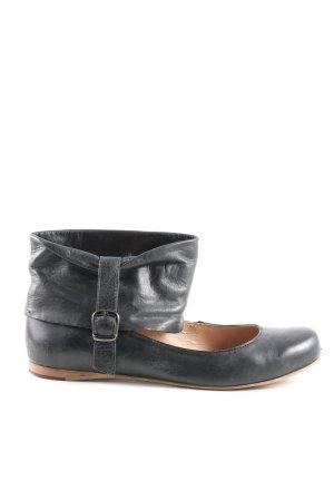 Görtz Shoes Ballerines à lacets noir style décontracté