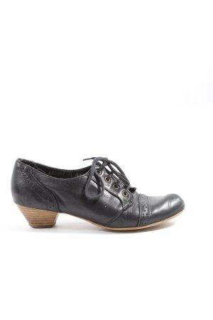 Görtz Shoes Schnür-Stiefeletten schwarz Casual-Look