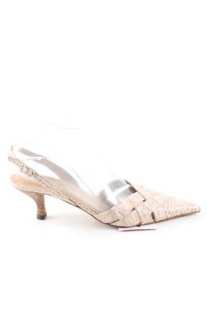 Görtz Shoes Slingback-Pumps wollweiß Animalmuster Elegant