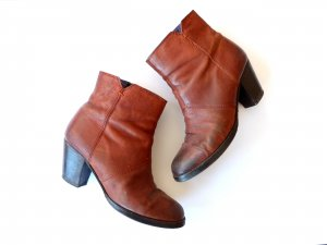 Görtz Stiefeletten Gr. 39 Pistol Boots brown Speckleder ombre Absatz