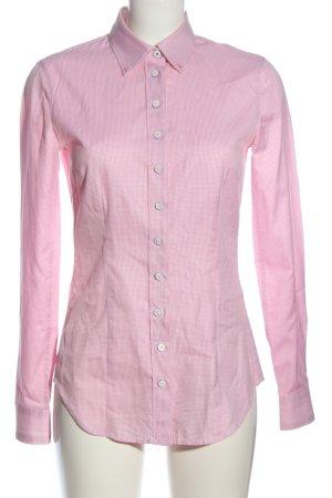 gössl Langarmhemd weiß-pink Allover-Druck Business-Look