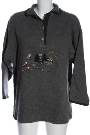 gössl Maglione tradizionale grigio chiaro-nero stile casual