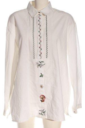 gössi Camisa folclórica blanco look casual