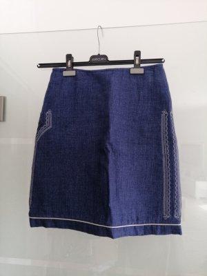gössl Lniana spódnica ciemnoniebieski