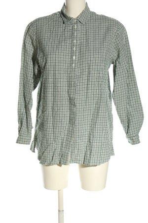 gössl Tradycyjna koszula khaki-w kolorze białej wełny Wzór w kratkę