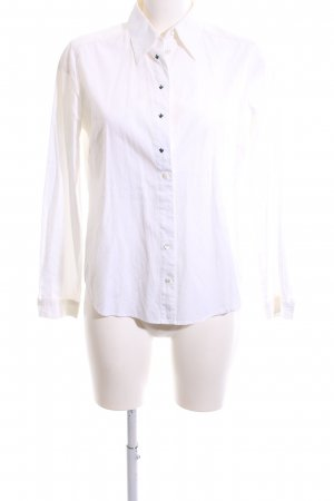 gössl Folkloristische hemd wit zakelijke stijl