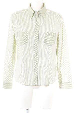 gössl Trachtenhemd grasgrün-weiß Streifenmuster klassischer Stil