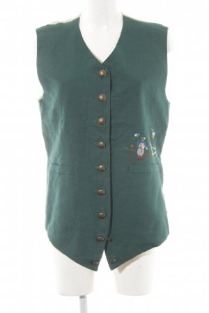 gössl Traditional Vest dark green-beige Metal elements