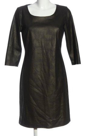 Geisha Langarmkleid schwarz-weiß abstraktes Muster Casual-Look