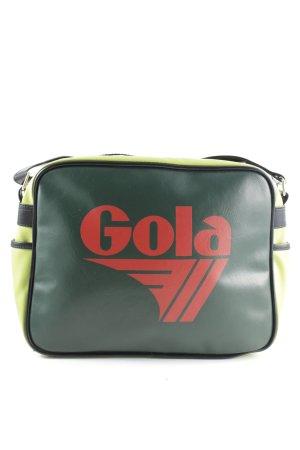 Gola Umhängetasche grün-rot Motivdruck Casual-Look