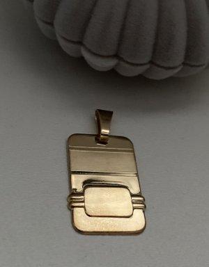 Gold 585 Gravurplatte NEU