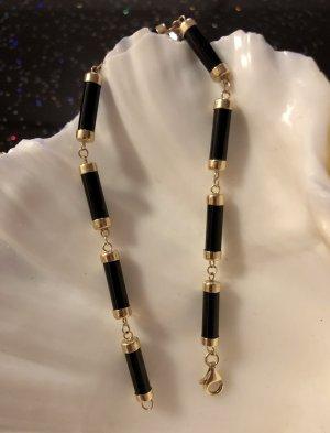 Gold 585 Onyx Armband