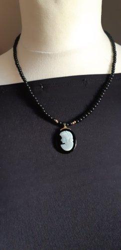 Gold 585 ,opal, onix perlenkette