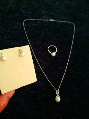 Gold 585 und Perlen Juwiler Set