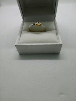 Anillo de oro color plata-color oro