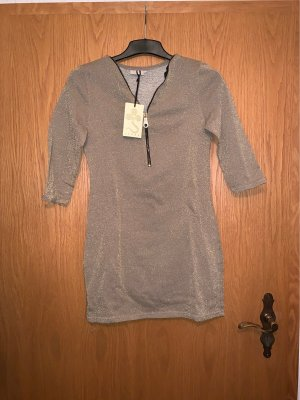Glanzende blouse brons-goud