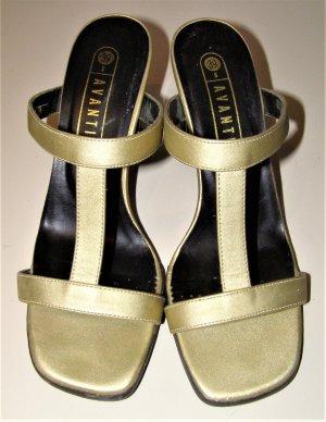 Avanti Sandalen met bandjes goud kunststof