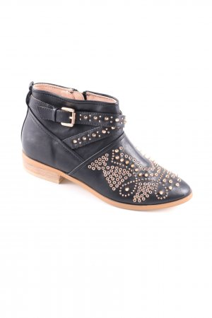 Gold & Gold Ankle Boots schwarz-goldfarben Casual-Look
