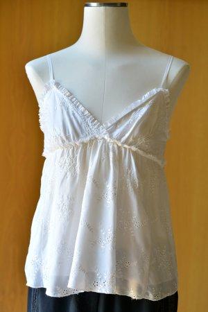 Gold Hawk Silk Top natural white-cream silk