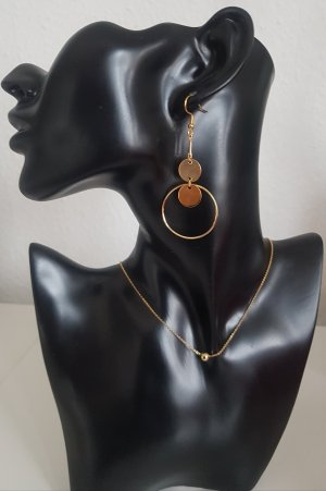 Handmade Statement Earrings gold-colored