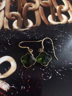 Gold Ohrringe mit Peridot Steinen- letzter Preis