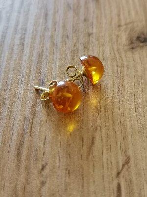 Pendientes de oro color oro-naranja claro