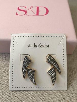 Stella & Dot Ear stud gold-colored-black