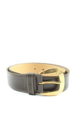 Gold Pfeil Hebilla del cinturón negro elegante