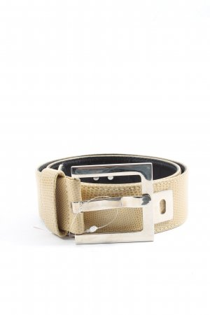 Gold Pfeil Faux Leather Belt natural white casual look