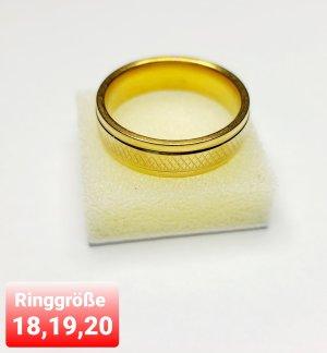 Gold Ring aus Chirurgenstahl