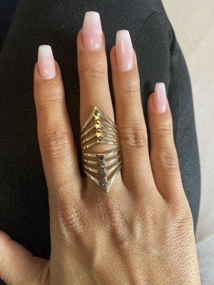 Bijou Brigitte Gouden ring goud-zwart
