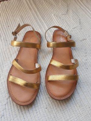 Sandales à lanière brun sable