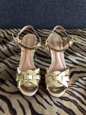 Schutz Sandalo con plateau oro