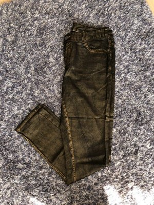 Gold/schwarze Jeanshose 44