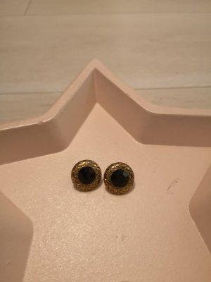 Gold schwarze Ohrringe