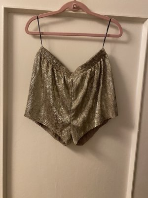 H&M High-Waist-Shorts gold-colored